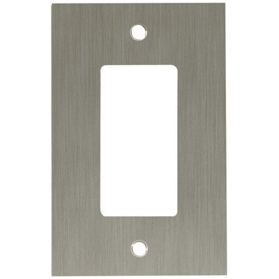 Concave Single GFCI/Rocker Wall Plate Finish: Satin Nickel