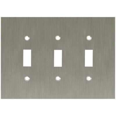 Concave Triple Switch Wall Plate Finish: Satin Nickel