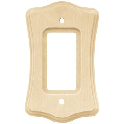 Wood Scalloped Single Decorator Wall Plate (Set of 2)