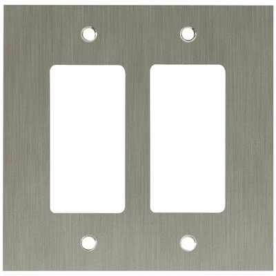 Concave Double GFCI/Rocker Wall Plate Finish: Satin Nickel