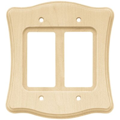 Wood Scalloped Double Decorator Wall Plate