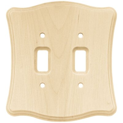 Wood Scalloped Double Switch Wall Plate