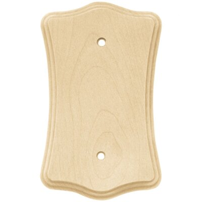 Wood Scalloped Single Blank Wall Plate (Set of 2)