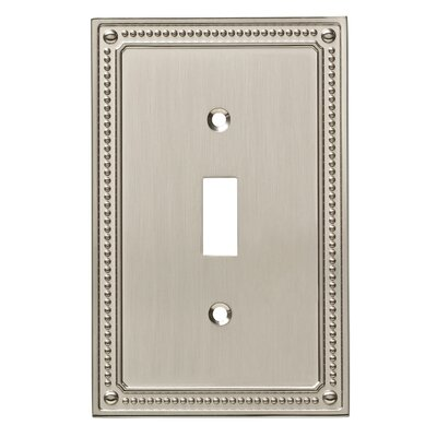 Classic Beaded Single Switch Wall Plate Finish: Satin Nickel