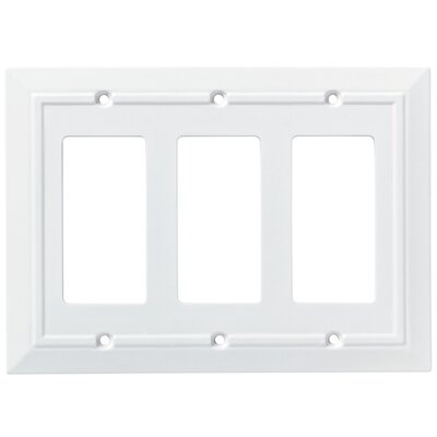 Classic Architecture Triple Decorator Wall Plate Finish: Pure White