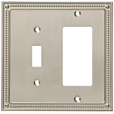 Classic Beaded Single Switch Decorator Wall Plate Finish: Satin Nickel
