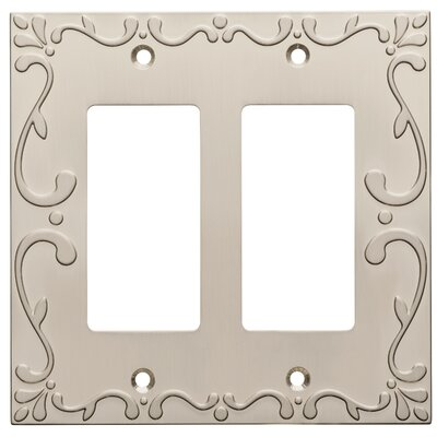 Classic Lace Double Decorator Wall Plate Finish: Satin Nickel