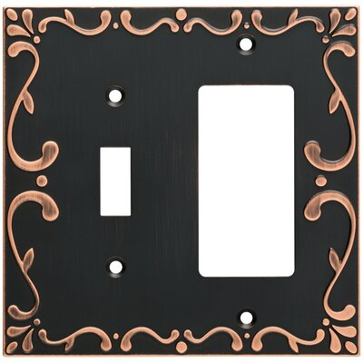 Classic Lace Single Switch Decorator Wall Plate Finish: Bronze/Copper