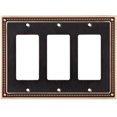 Classic Beaded Triple Decorator Wall Plate Finish: Bronze/Copper