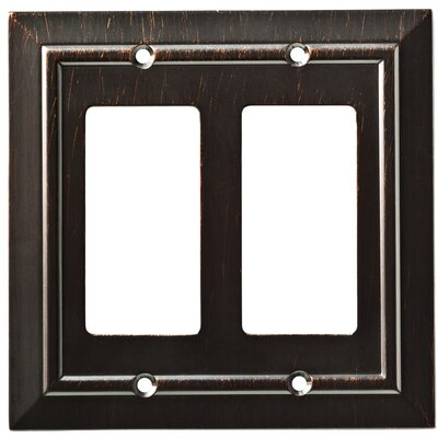 Classic Architecture Double Decorator Wall Plate Color: Venetian Bronze