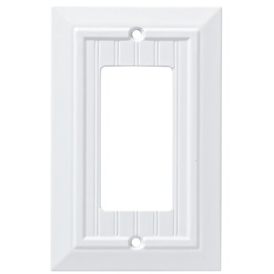 Classic Beadboard Single Decorator Wall Plate