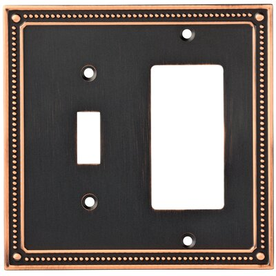 Classic Beaded Single Switch Decorator Wall Plate Finish: Bronze/Copper