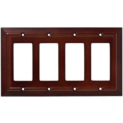 Classic Architecture Quad Decorator Plate Finish: Espresso