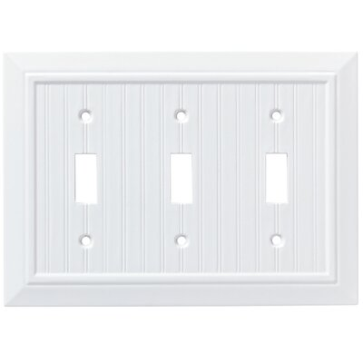 Classic Beadboard Triple Switch Wall Plate