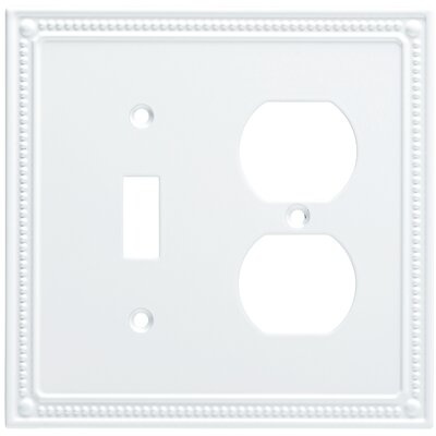Classic Beaded Single Switch Gang Duplex Wall Plate Finish: Pure White