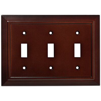 Classic Architecture Triple Switch Wall Plate Finish: Espresso
