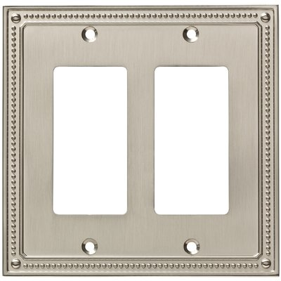 Classic Beaded Double Decorator Wall Plate Color: Satin Nickel