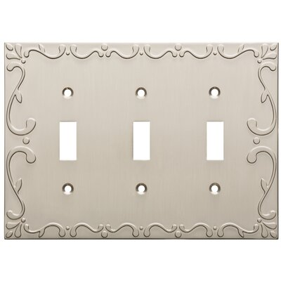 Classic Lace Triple Switch Wall Plate Finish: Satin Nickel