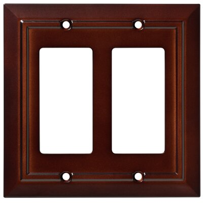 Classic Architecture Double Decorator Wall Plate Color: Espresso