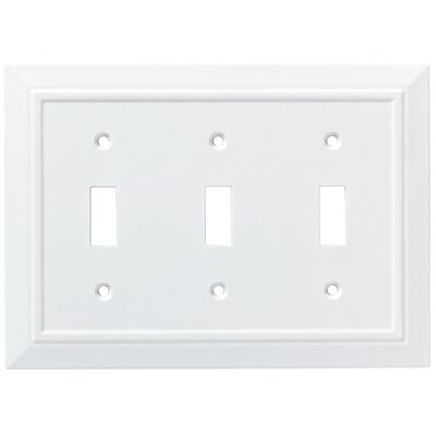 Classic Architecture Triple Switch Wall Plate Color: Pure White
