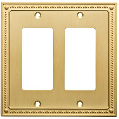 Classic Beaded Double Decorator Wall Plate Color: Brushed Brass
