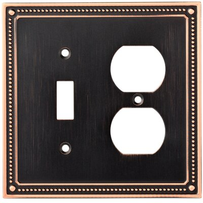 Classic Beaded Single Switch Gang Duplex Wall Plate Finish: Bronze/Copper