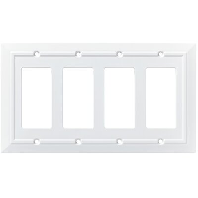 Classic Architecture Quad Decorator Plate Finish: Pure White