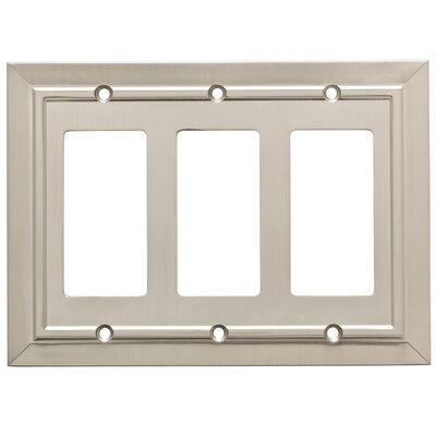 Classic Architecture Triple Decorator Wall Plate Finish: Satin Nickel
