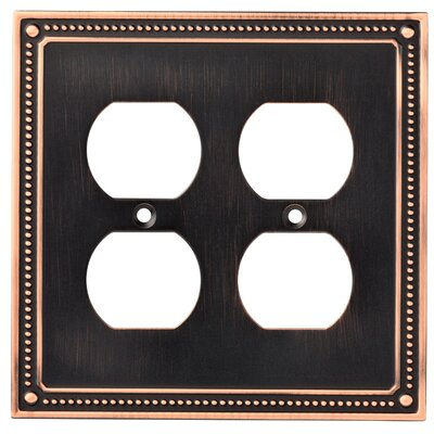 Classic Beaded 2 Gang Duplex Wall Plate Finish: Bronze/Copper