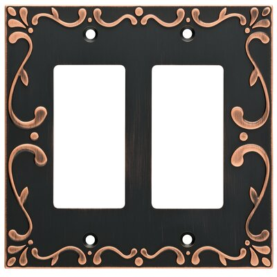 Classic Lace Double Decorator Wall Plate Finish: Bronze/Copper
