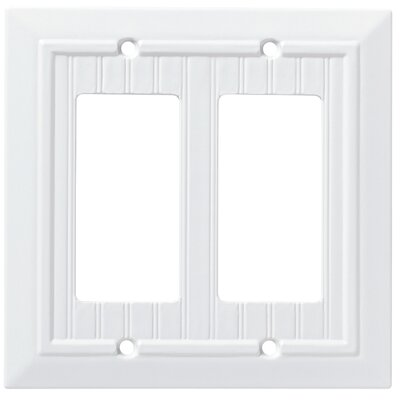 Classic Beadboard Double Decorator Wall Plate