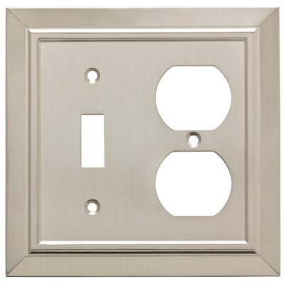 Classic Architecture Single Switch Gang Duplex Wall Plate Finish: Satin Nickel