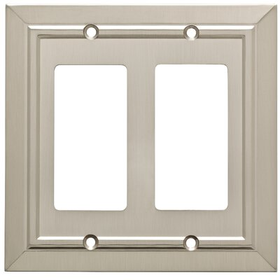 Classic Architecture Double Decorator Wall Plate Color: Satin Nickel