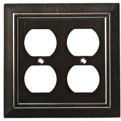 Classic Architecture 2 Gang Duplex Wall Plate Finish: Venetian Bronze