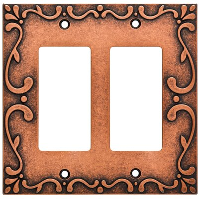 Classic Lace Double Decorator Wall Plate Color: Sponged Copper