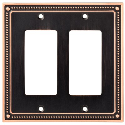 Classic Beaded Double Decorator Wall Plate Color: Bronze/Copper
