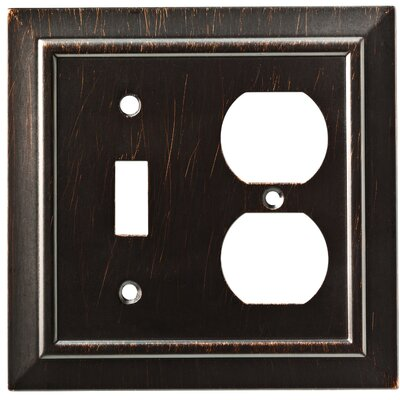 Classic Architecture Single Switch Gang Duplex Wall Plate Color: Venetian Bronze