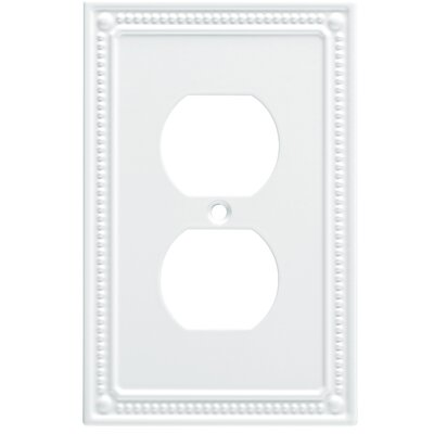 Classic Beaded 1 Gang Duplex Wall Plate Color: Pure White