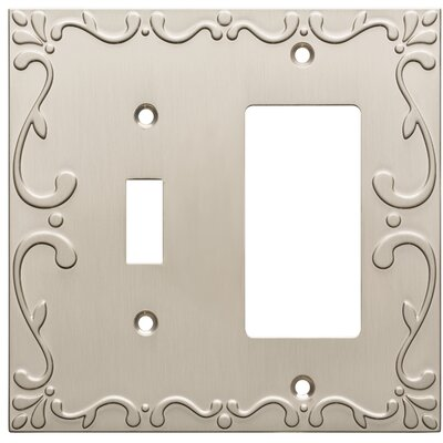 Classic Lace Single Switch Decorator Wall Plate Finish: Satin Nickel