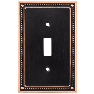 Classic Beaded Single Switch Wall Plate Color: Bronze/Copper