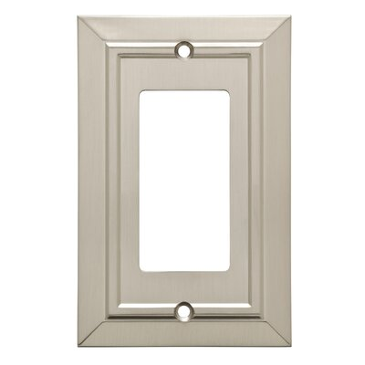 Classic Architecture Single Decorator Wall Plate Finish: Satin Nickel