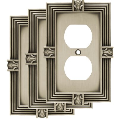 Pineapple 1 Gang Duplex Wall Plate Color: Brushed Satin Pewter