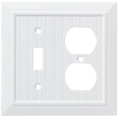 Classic Beadboard Single Switch Gang Duplex Wall Plate