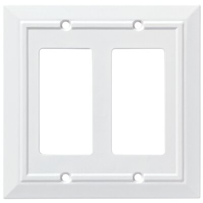 Classic Architecture Double Decorator Wall Plate Color: Pure White
