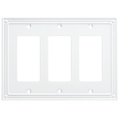 Classic Beaded Triple Decorator Wall Plate Color: Pure White