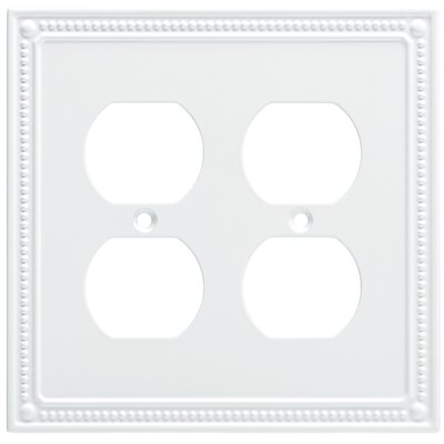 Classic Beaded 2 Gang Duplex Wall Plate Finish: Pure White
