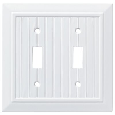 Classic Beadboard Double Switch Wall Plate