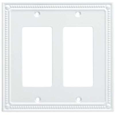 Classic Beaded Double Decorator Wall Plate Finish: Pure White