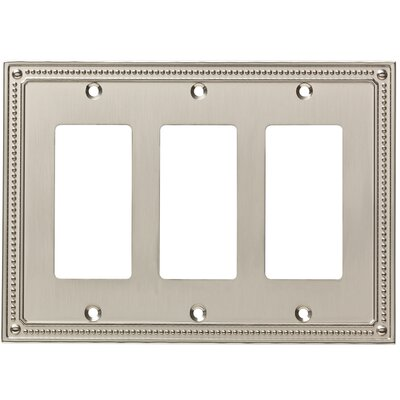 Classic Beaded Triple Decorator Wall Plate Color: Satin Nickel