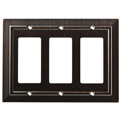 Classic Architecture Triple Decorator Wall Plate Color: Venetian Bronze